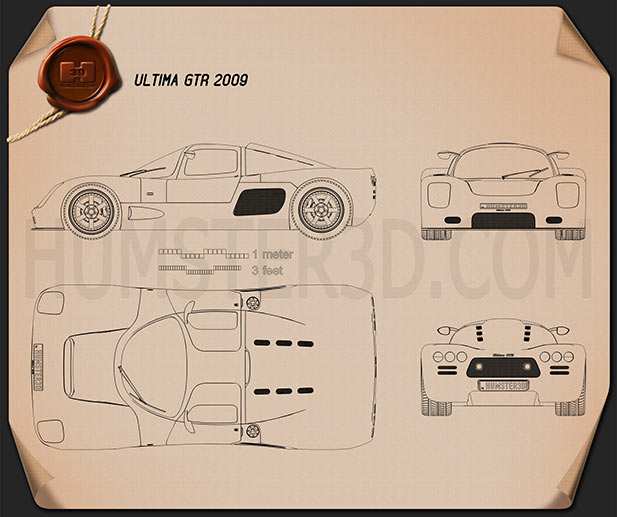 Ultima GTR 2009 Blueprint