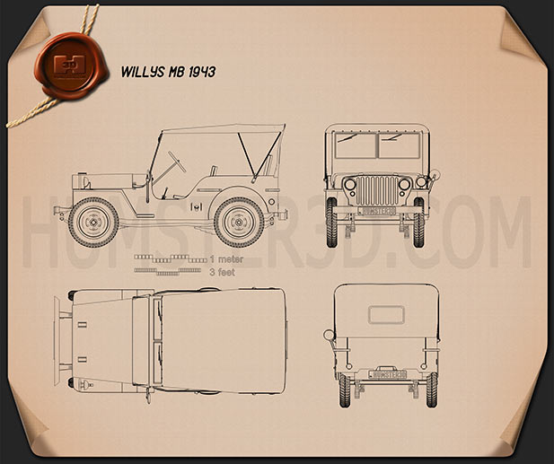 Willys MB 1941 Blueprint