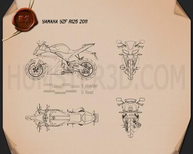 Yamaha YZF-R125 Blueprint
