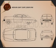 Mercury Eight Coupe 1949 Blueprint