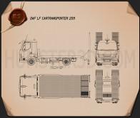 DAF LF Car Transporter 2011 Blueprint