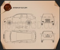 Datsun GO plus 2014 Blueprint