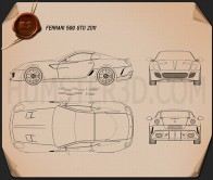 Ferrari 599 GTO 2011 Blueprint