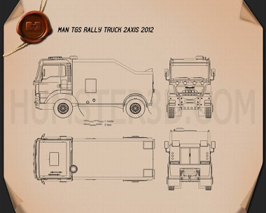 MAN TGS Rally Truck 2012 Blueprint