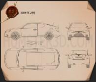 Scion tC 2012 Blueprint