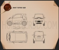 Smart Fortwo 1998 Blueprint