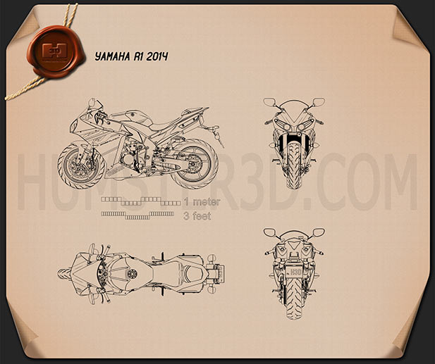Yamaha R1 2014 Blueprint