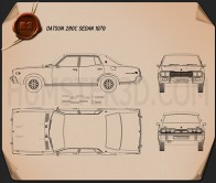 Datsun 280C sedan 1979 Blueprint