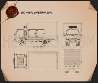 GMC W4500 Supershot 2009 Blueprint