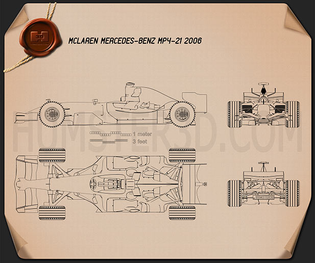 McLaren MP4-21 2006 Blueprint