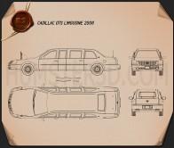 Cadillac DTS Limousine 2005 Blueprint