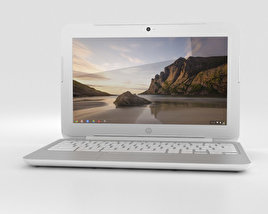 HP Chromebook 11 G3 Snow White 3D model