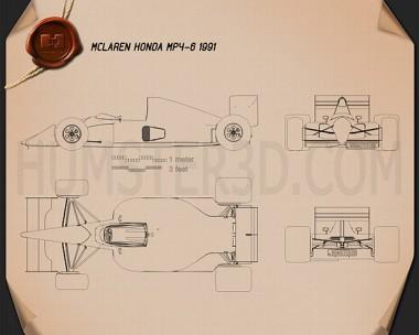 McLaren MP4-6 1991 Blueprint
