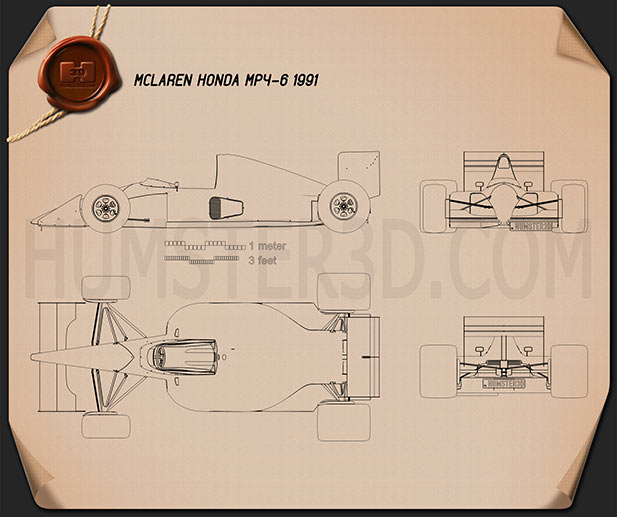 McLaren MP4-6 1991 Blueprint