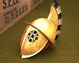 Thracian Gladiator Helmet 3D model