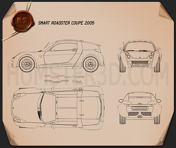 Smart Forfour 2006 3d Model: Smart Blueprint 3D Models Download