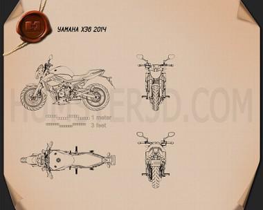 Yamaha XJ6 2014 Blueprint