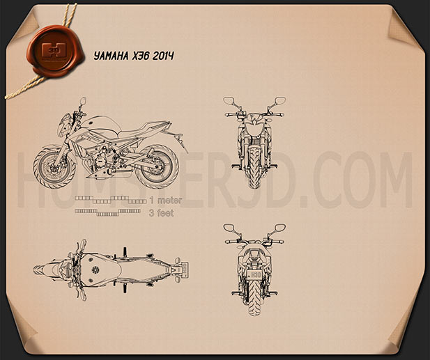 Yamaha XJ6 2014 Blueprint