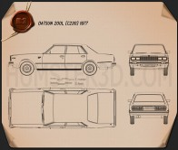 Datsun 200L 1977 Blueprint