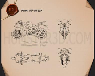 Yamaha YZF-R6 2014 Blueprint