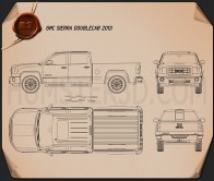 GMC Sierra Double Cab 2013 Blueprint