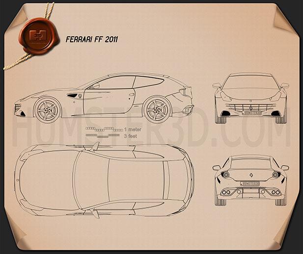 Ferrari FF 2011 Blueprint