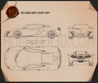 McLaren 650S coupe 2014 Blueprint