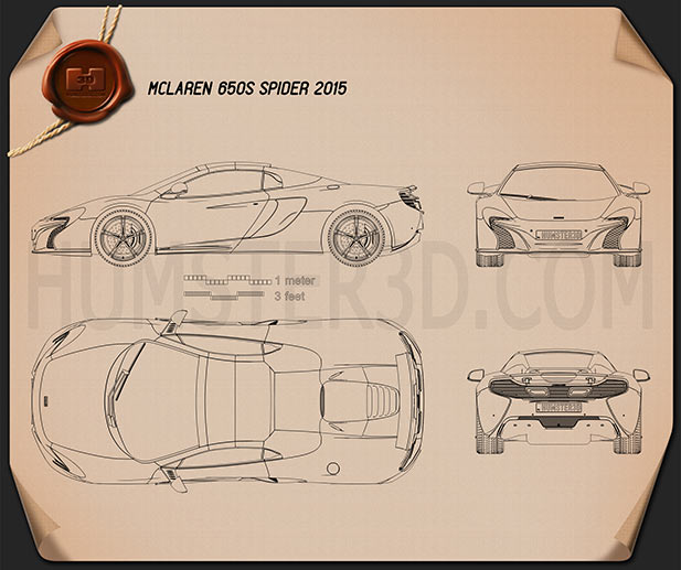 McLaren 650S Spider 2015 Blueprint