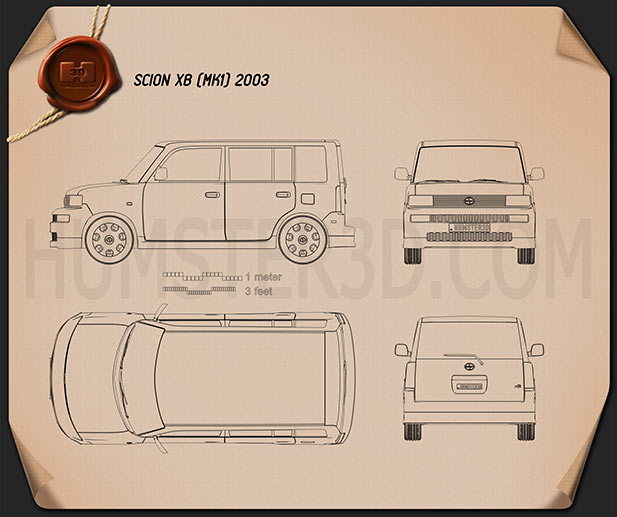 Scion xB 2003 Blueprint