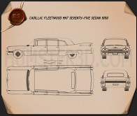 Cadillac Fleetwood 75 sedan 1959 Blueprint