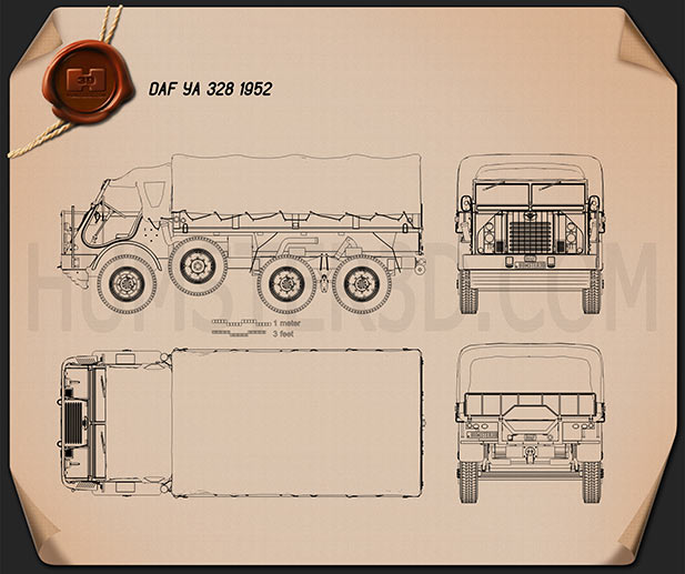 DAF YA 328 1952 Blueprint