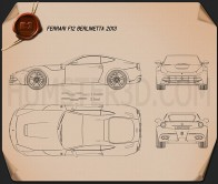 Ferrari F12 Berlinetta 2012 Blueprint