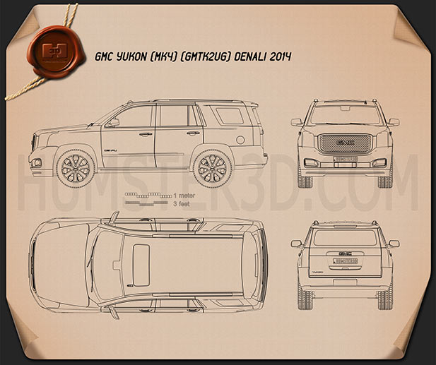 GMC Yukon Denali 2014 Blueprint