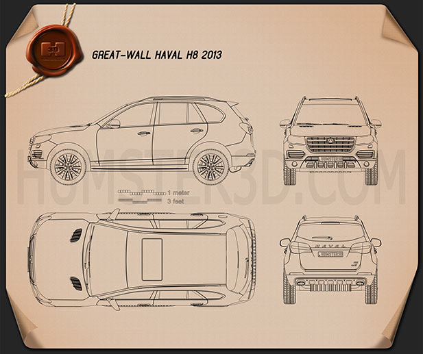 Great Wall Haval H8 2013 Blueprint