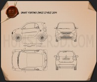 Smart Fortwo 2014 Blueprint
