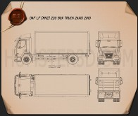DAF LF Box Truck 2013 Blueprint