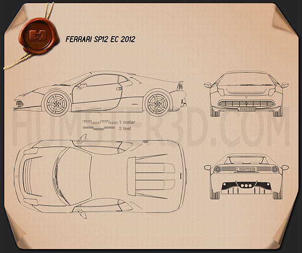 Ferrari SP12 EC 2012 Blueprint