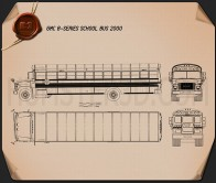 GMC B-Series School Bus 2000 Blueprint