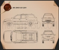 GMC Envoy XUV 2004 Blueprint