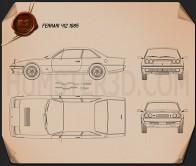 Ferrari 412 1985 Blueprint