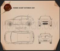 Hyundai Accent (i25) Hatchback 2012 Blueprint