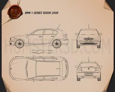 BMW 1 Series 5-door 2009 Blueprint