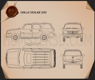 Cadillac Escalade 2002 Blueprint