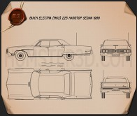 Buick Electra 225 4-door hardtop 1968 Blueprint