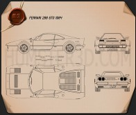 Ferrari 288 GTO 1984 Blueprint