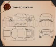 Ferrari F355 F1 Berlinetta 1999 Blueprint