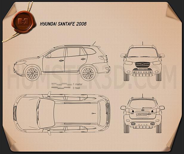 Hyundai Santa Fe 2007 Blueprint