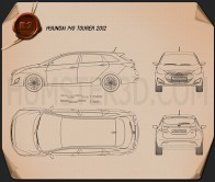 Hyundai i40 Tourer 2012 Blueprint