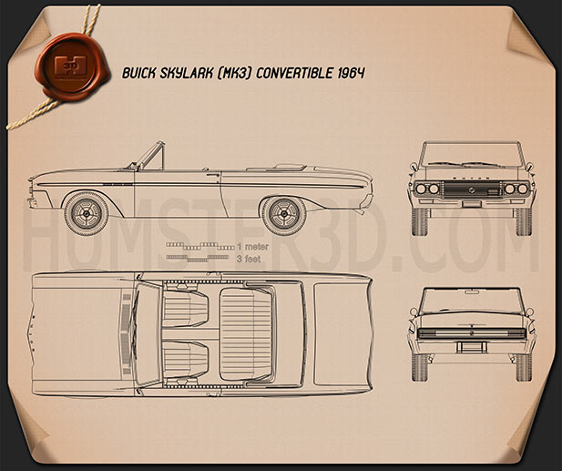 Buick Skylark convertible 1964 Blueprint
