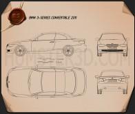 BMW 3 series Convertible 2011 Blueprint